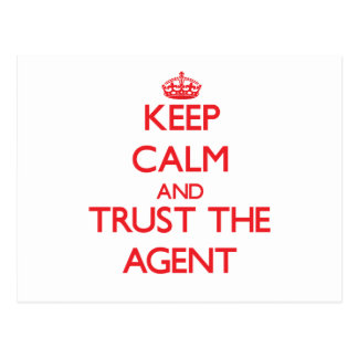 Keep Calm and Trust the Agent Postcard
