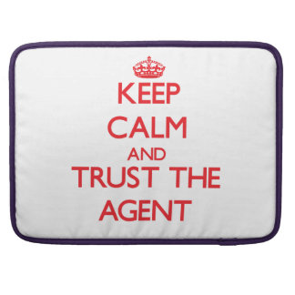 Keep Calm and Trust the Agent Sleeves For MacBook Pro