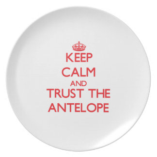 Keep calm and Trust the Antelope Party Plates