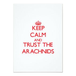 """Keep calm and Trust the Arachnids 5"""" X 7"""" Invitation Card"""