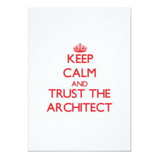 Keep Calm and Trust the Architect Invitations