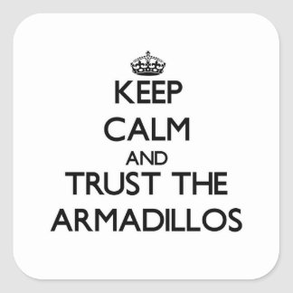 Keep calm and Trust the Armadillos Square Stickers