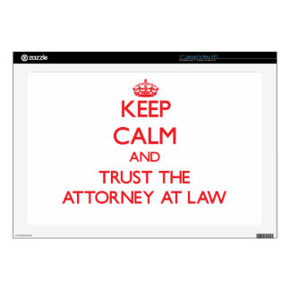 """Keep Calm and Trust the Attorney At Law Decals For 17"""" Laptops"""