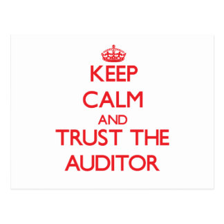 Keep Calm and Trust the Auditor Postcard