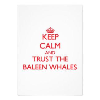 Keep calm and Trust the Baleen Whales Custom Invite