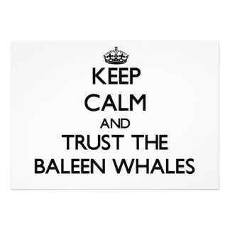 Keep calm and Trust the Baleen Whales Announcements