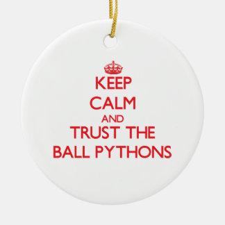 Keep calm and Trust the Ball Pythons Christmas Tree Ornament