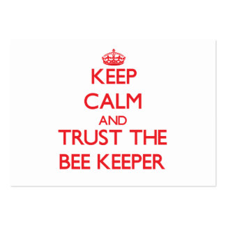 Keep Calm and Trust the Bee Keeper Business Card Templates