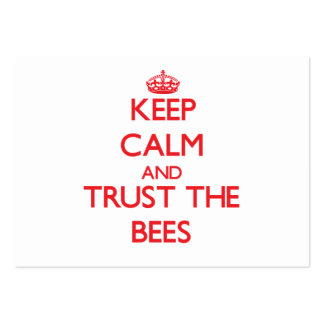 Keep calm and Trust the Bees Business Card