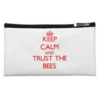 Keep calm and Trust the Bees Cosmetic Bags
