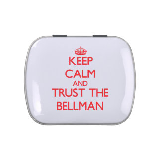 Keep Calm and Trust the Bellman Jelly Belly Tin