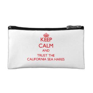Keep calm and Trust the California Sea Hares Makeup Bags
