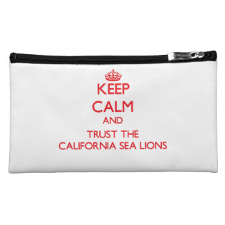Keep calm and Trust the California Sea Lions Cosmetics Bags