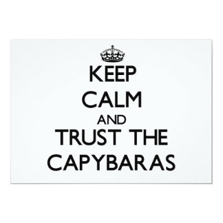 Keep calm and Trust the Capybaras 5x7 Paper Invitation Card