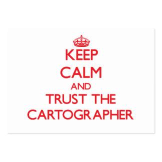 Keep Calm and Trust the Cartographer Business Card