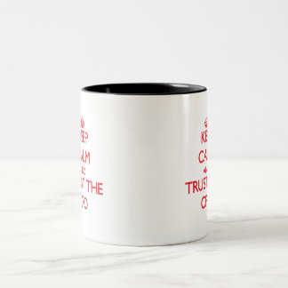 Keep Calm and Trust the Cfo Two-Tone Coffee Mug