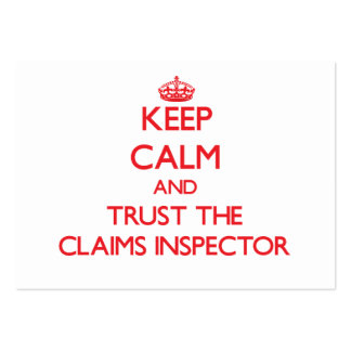 Keep Calm and Trust the Claims Inspector Business Card Template