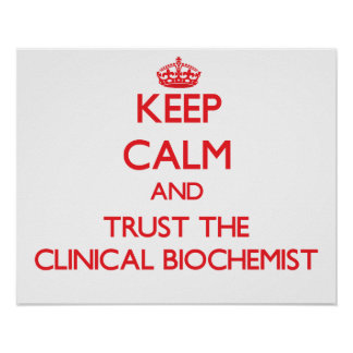 Keep Calm and Trust the Clinical Biochemist Posters