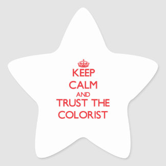 Keep Calm and Trust the Colorist Star Sticker
