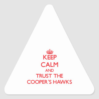 Keep calm and Trust the Cooper's Hawks Triangle Sticker