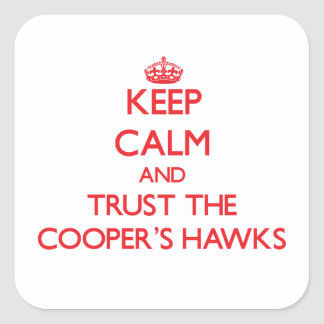 Keep calm and Trust the Cooper's Hawks Stickers