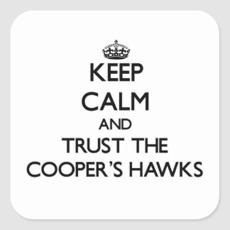 Keep calm and Trust the Cooper's Hawks Sticker