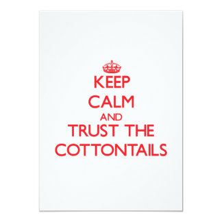 Keep calm and Trust the Cottontails 5x7 Paper Invitation Card