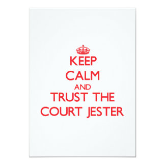 Keep Calm and Trust the Court Jester 5x7 Paper Invitation Card