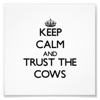 Keep calm and Trust the Cows Photo Print