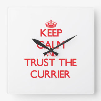Keep Calm and Trust the Currier Square Wall Clock