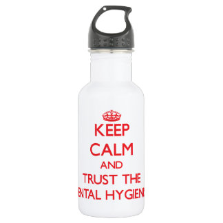 Keep Calm and Trust the Dental Hygienist 18oz Water Bottle