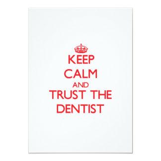 "Keep Calm and Trust the Dentist 5"" X 7"" Invitation Card"