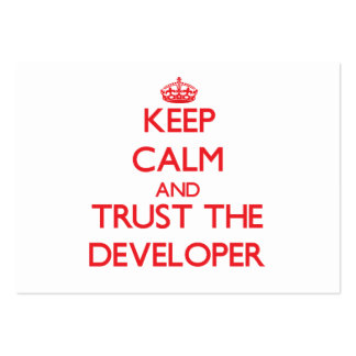 Keep Calm and Trust the Developer Large Business Cards (Pack Of 100)
