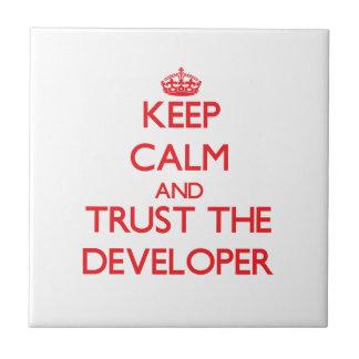 Keep Calm and Trust the Developer Ceramic Tile