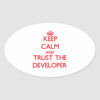 Keep Calm and Trust the Developer Sticker