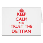 Keep Calm and Trust the Dietitian Greeting Cards