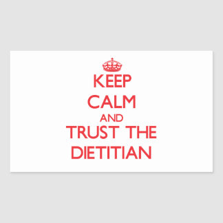Keep Calm and Trust the Dietitian Stickers