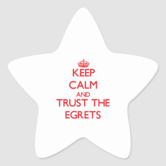 Keep calm and Trust the Egrets Star Stickers