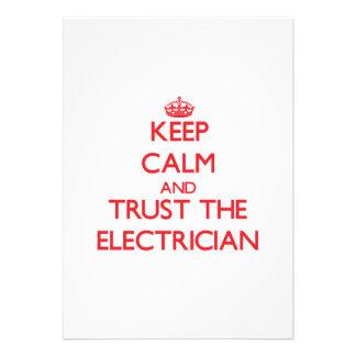 Keep Calm and Trust the Electrician Custom Invite