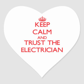 Keep Calm and Trust the Electrician Heart Sticker