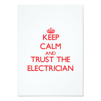 Keep Calm and Trust the Electrician 5x7 Paper Invitation Card