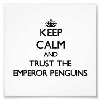 Keep calm and Trust the Emperor Penguins Photo Art