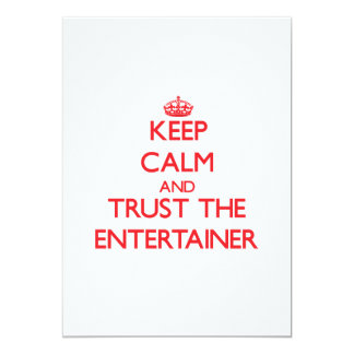 Keep Calm and Trust the Entertainer Personalized Announcements