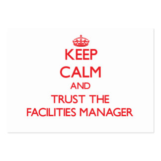 Keep Calm and Trust the Facilities Manager Business Card