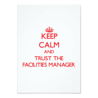 Keep Calm and Trust the Facilities Manager Custom Invite
