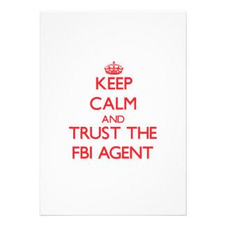 Keep Calm and Trust the Fbi Agent Invitations