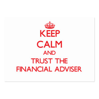 Keep Calm and Trust the Financial Adviser Business Cards