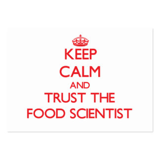 Keep Calm and Trust the Food Scientist Business Card