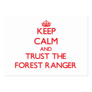 Keep Calm and Trust the Forest Ranger Large Business Cards (Pack Of 100)