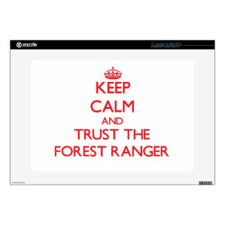 """Keep Calm and Trust the Forest Ranger 15"""" Laptop Decals"""